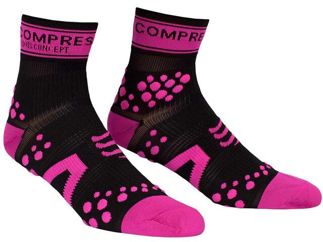 Compressport Racing V2 Run High Socks Black/Pink